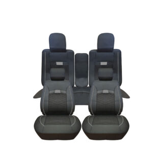 Cubreasiento Cushion Modelo New Negro Gris
