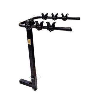 portabicicleta al gancho de arrastre soporta hasta 3 bicicletas. Aluminio reforzado.